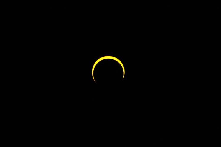 奥只見銀山平の日食